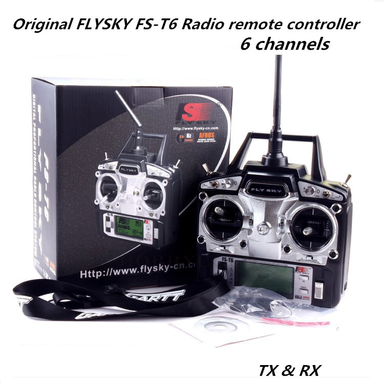 flysky fs t6 2 4ghz 6 channels remote control for rc boat airplanes diy fpv drone qav250 in. Black Bedroom Furniture Sets. Home Design Ideas