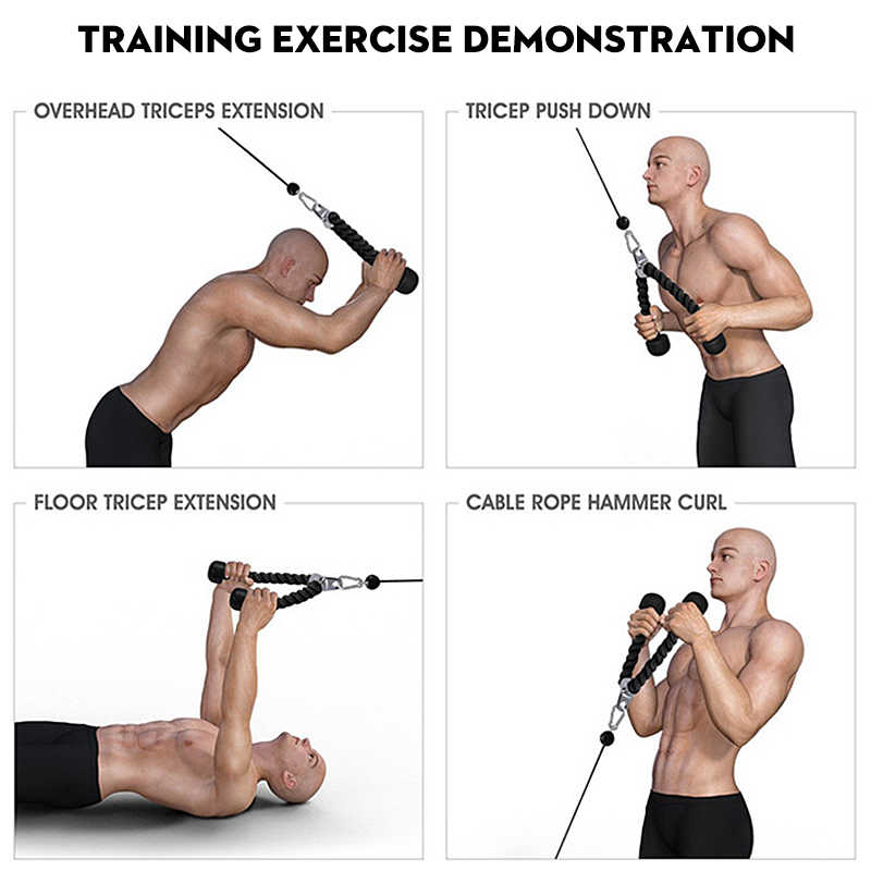 Dline Resistance Band Biceps Triceps Rope Rope Pull Down