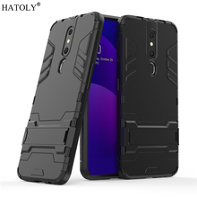 For OPPO F11 Pro Case Rubber Robot Armor PC Shell Protective Hard Back Cover for OPPO F11 Pro Phone Case for OPPO F11 Pro oppo f11 case luxury robot armor rubber silicone slim hard pc phone case for oppo f11 back cover for oppo f11 kickstand fundas