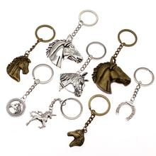 Fashion Key Chain Unicorn Horse Horseshoe Car Keychain Handmade Jewelry Chains Bag Charm Keyring Gift For Girls