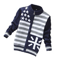 New Kids Autumn Wear Children Sweater Kids Casual Sweater Fashion Striped Sweaters Baby Boy Cardigans 3 Size