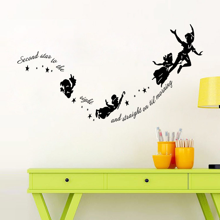 Tinkerbell Second Star To The Right Peter Pan Wall Decal Sticker Kids Art  Mural In Wall Stickers From Home U0026 Garden On Aliexpress.com | Alibaba Group