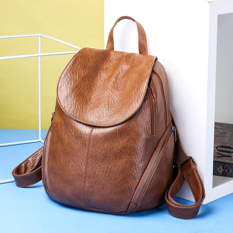 Fashion New Travel Bacpaok Korean Women Female Rucksack Leisure Student School Bag Soft Pu Leather Women Bag 226 #2