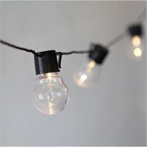 Image 2 - Dropship retro edison luz lâmpada estilo fada string luz impermeável ao ar livre luz interior 6m ac 110 v 220 v jardim decoração luminária
