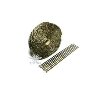 Image 4 - 15 m/50ft X 1 inç Titanyum Termal Egzoz Üstbilgi Borusu Isı Wrap Egzoz Wrap Lava Elyaf Bant 6 adet Paslanmaz Çelik Bağları Seti