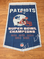 3 X5 Grey Blue Colors New England Patriots 2001 2016 Year Champions Pennant With Grommets