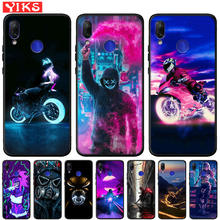 City Street Night Motorcycle Case Coque For Xiaomi Redmi Not