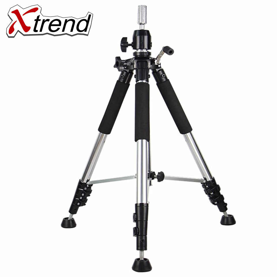 Xtrend Tripod Training Doll Head Mannequin Head Wig Manikin Canvas Block Head Stand Aluminium Alloy Round Leg Strong Stable