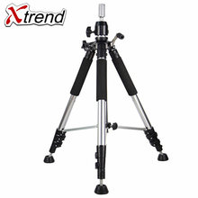 Xtrend Tripod Training Doll Head Mannequin Head Wig Manikin Canvas Block Head Stand Aluminium Alloy Round Leg Strong Stable(China)