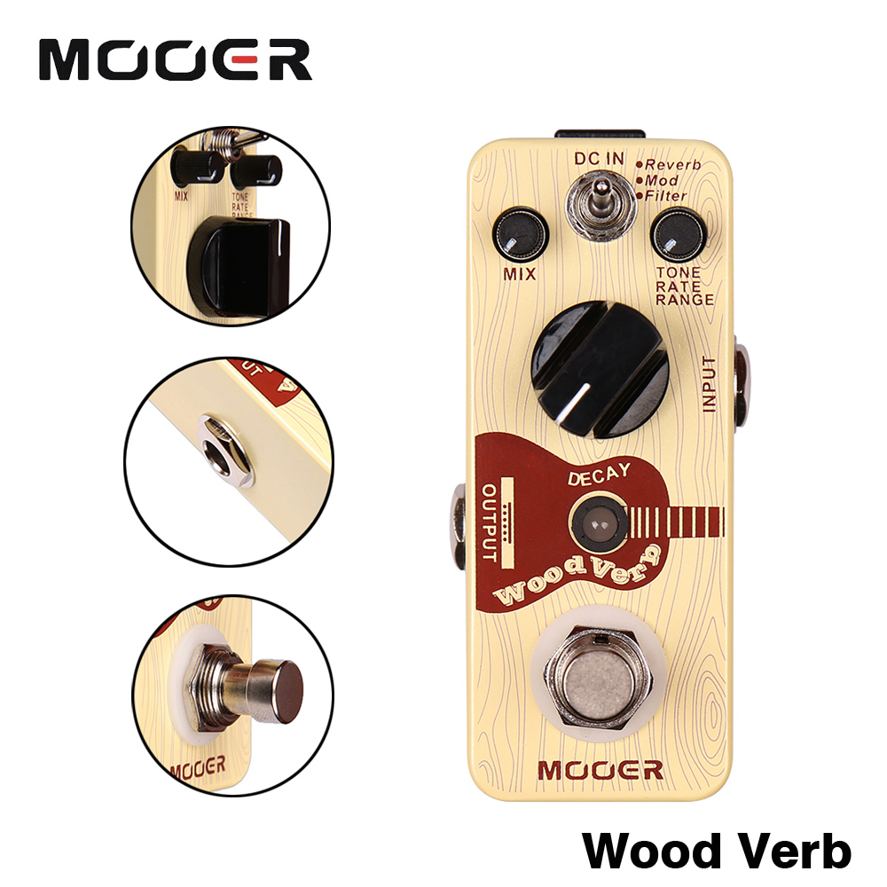 все цены на Mooer 3 Reverb Modes Full Metal Shell Effects WoodVerb Acoustic Guitar Reverb Effect Pedal Guitarra Accessory