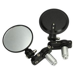 """Image 2 - Motorcycle Round 7/8"""" Handle Bar End Foldable Motorbike Rear View Side Mirrors Cafe Racer Mirrors"""