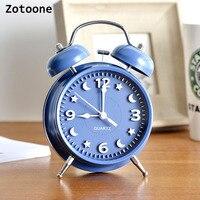 ZOTOONE 1PCS Lazy Alarm Clock Super Loud Simple Desktop Clock Digital Clock Creative Small Pointer Home