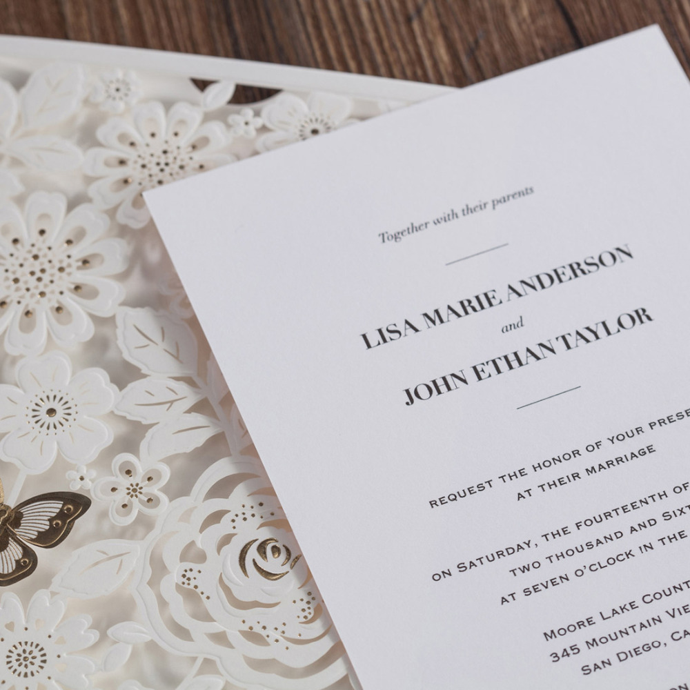 Aliexpress.com : Buy Laser Cut Wedding Invitations Cards with 3D ...