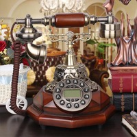 Metal bronze corolla European classical decorative antique telephone call Home Furnishing Vintage luxury noble