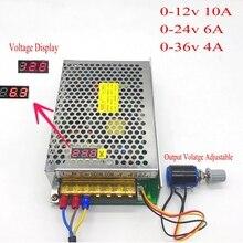 Transformateur à affichage numérique 220v 110v à cc 12V 24V 36V 150W, tension réglable réglable, commutateur LED dalimentation pilotes