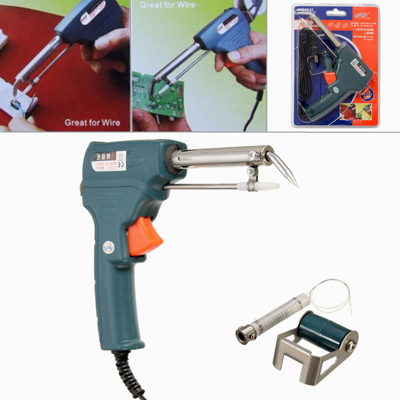 Newest 220V 60W Automatic Send Tin Soldering Iron Gun Solder Stand AC Welding Tool Wholesale Price Hot lodestar l409160 60w welding solder soldering iron