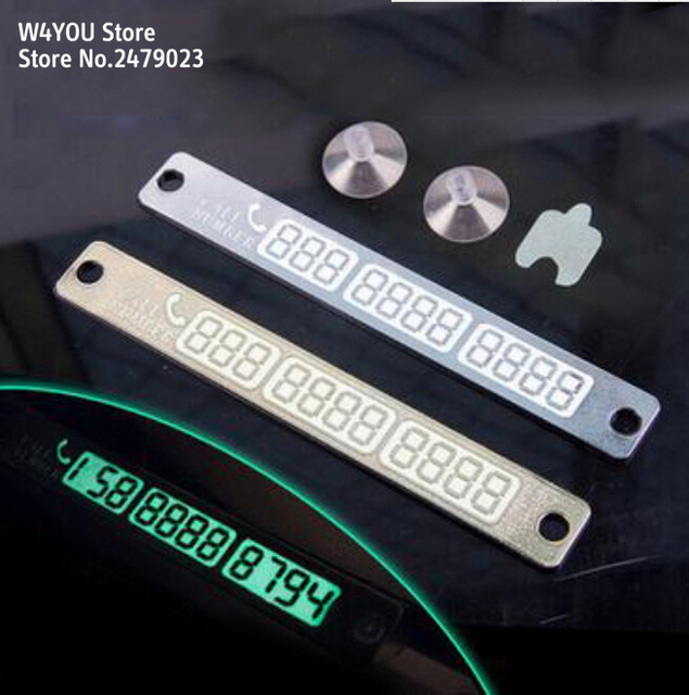 Night light temporary car parking card sticker for outback forester xv legacy impreza tribeca brz wrx