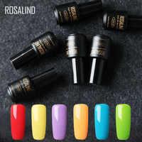 (6 pièces/lot) ROSALIND 7ML couleurs pures Gel vernis ensemble d'ongles UV tremper longue durée vernis à ongles Gel pour ongles Art bricolage manucure