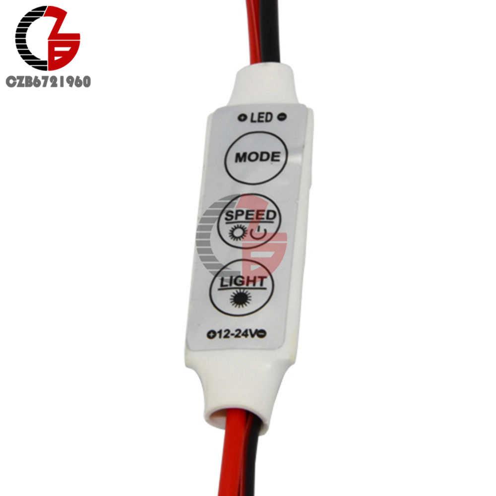 Mini 3 touches pour LED couleur simple variateur de luminosité contrôleur interrupteur pour 3528 5050 5630 5730 3014 LED bande lumineuse 12V