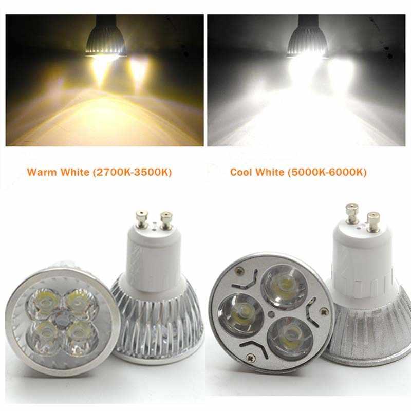 Высокая яркость MR16-GU5.3 светодио дный пятно света лампы 12 В 220V 110V 3 Вт 4 Вт 5 Вт 9 Вт 12 Вт 15 Вт светодио дный прожектор лампа GU 5,3 светодио дный лампочки