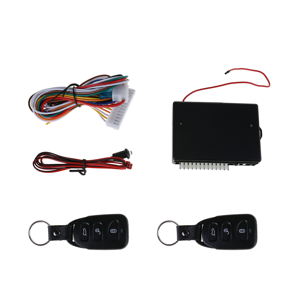 Universal Alarm Systems Car Remote Central Kit Door Lock Locking Vehicle Keyless Entry System New With Remote Controllers New
