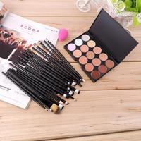 15 Colors Concealer Palette 20pcs Eye Make Up Brushes Tools Sponge Puff Makeup Contour Palette Paleta