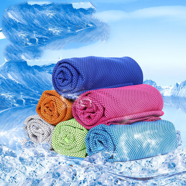2018 Multicolor Ice Towel Utility Enduring Instant Cooling Towel Heat Relief Reusable Chill Cool Towel Cold towel 100*30cm towel