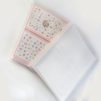 Transparent 20 Pages Nail Sticker Album Water Decals Collecting Storage Display Book Lattice Scrapbook For Nail Art Tool