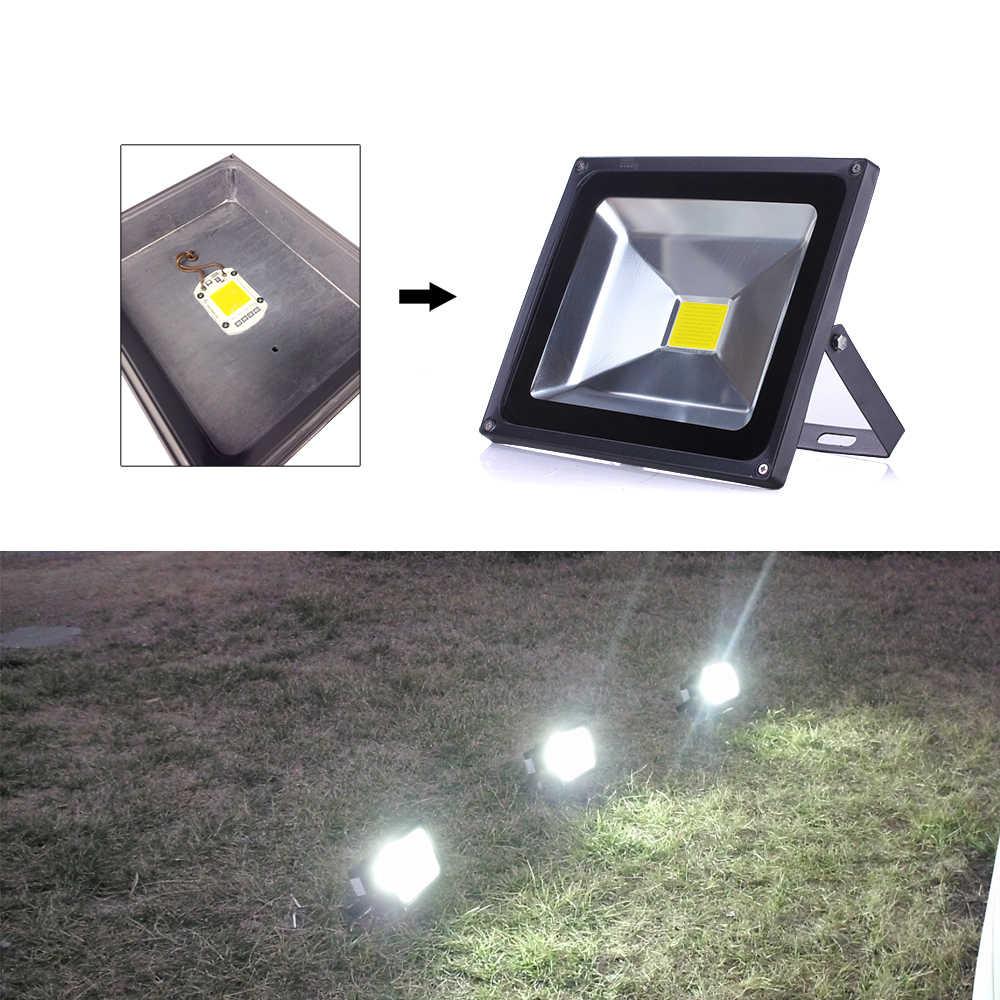 High Quality COB LED Chip 20W 30W 50W AC 220V No Need Driver Smart IC DIY LED Floodlight Spotlight White/ Warm White