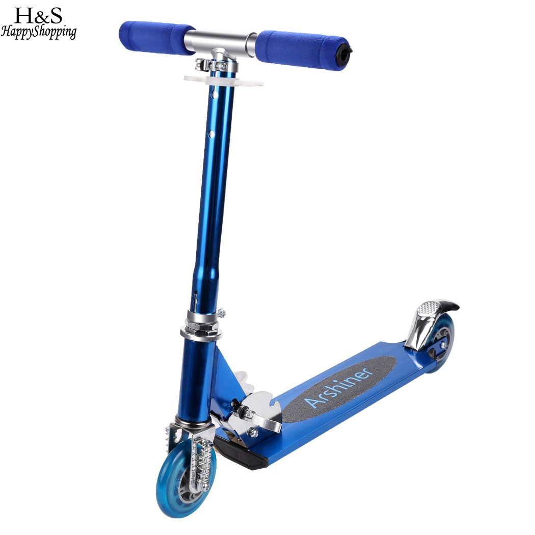 Arshiner Children Kids Adjustable Folding 2 Wheels ...