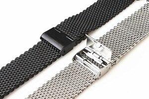 Image 3 - Toptan 10 adet/grup 18 MM, 20 MM, 22 MM 24 MM Paslanmaz Çelik saat kayışı saat kayışı Bilezik Askısı gümüş ve siyah WBS0099