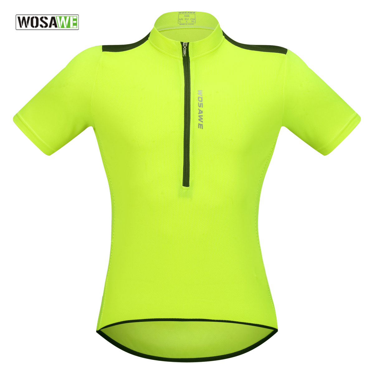 WOSAWE Cycling Jersey 2018 Pro Team Mtb Jersey Breathability Half Zip Maillot Ciclismo Short Sleeved Bike Shirt