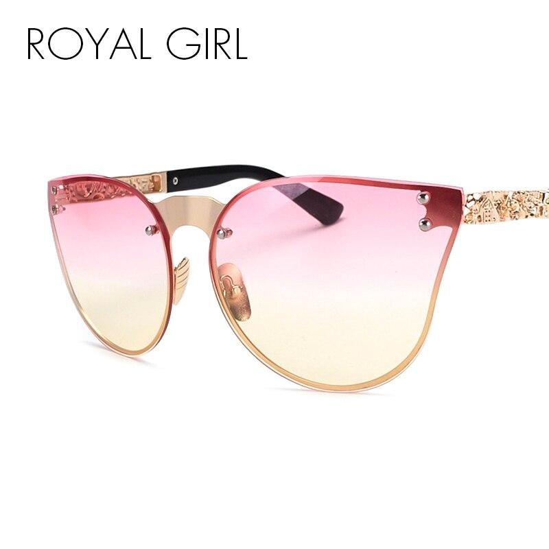 Rimless Eyeglasses 2017 : ROYAL GIRL Unique 2017 Women Sunglasses Rimless Cat Eye ...