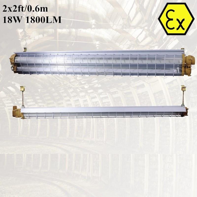 ATEX a prova di esplosione ha condotto l'illuminazione del tubo 2FT 4FT zona 1 AC110V 220V 240V ATEX luce del tubo del LED