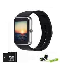 Sport smart watch gt08 uhr mit sim einbauschlitz push-nachricht bluetooth-konnektivität android telefon besser als dz09 smartwatch