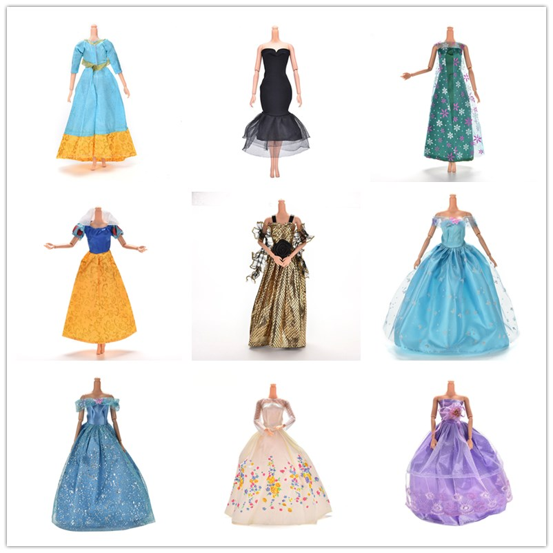 14styles Princess Doll Dress Noble Party Gown Fashion Design Outfit Best Gift For Doll For Girl' Doll Accessories