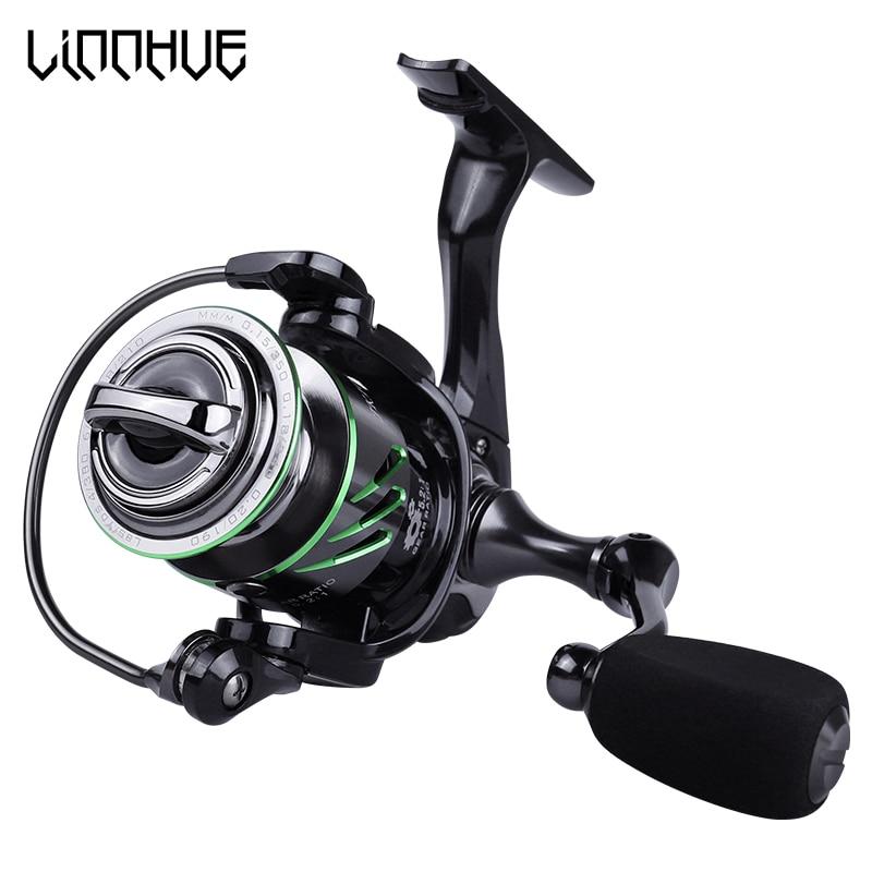 LINNHUE New Really 9+1 Metal Bearings Fishing Reel 5.2:1 Gear Spinning Reel1000H Max Drag Power Carp Fishing For Bass Tackles