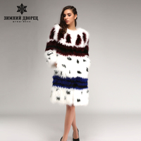 2016 2017 fashion hit the color long of fox fur coat fox white popular style fur coats for women star style fox fur winter coat