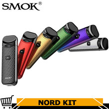 Original Smok Nord Pod Starter Kit with 1100mAh Battery 3ML Cartridge Atomizer with Nord Mesh coil Electronic Cigarette Vape(China)