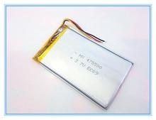 Envío libre 3.7 v batería de polímero de litio 3000 mah fuente de alimentación móvil 475590 de la tableta 7 'tablet