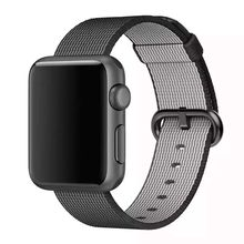 Lo nuevo llegado de cuero de nylon correa para apple watch band loop 42mm 38mm con adaptador de metal