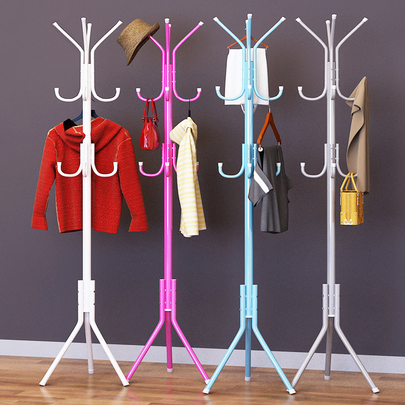 Coat Rack 32mm Steel Pipe fashion DIY Easy assembly can be removed Bedroom Hanging storage hanger Hanging clothes hats bags
