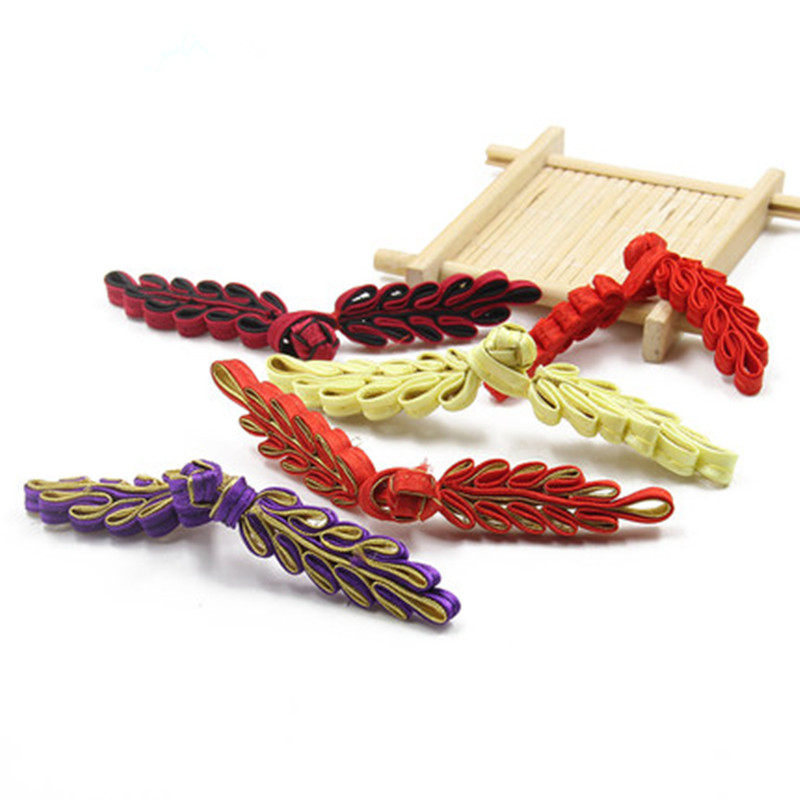 Clever Leaf-type Buckle 10pcs/lot Colorful Frog Button Handmade Decoration Button For Chinese Garments Tang Suit Accessories Diy Beautiful In Colour Arts,crafts & Sewing
