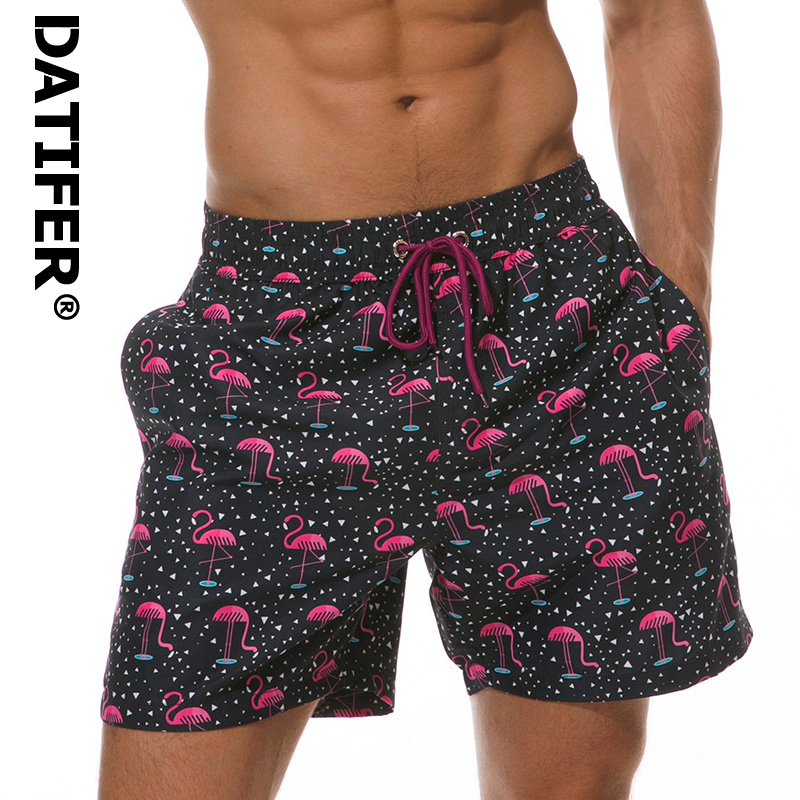 Scottish Fold Cat Mens Swim Trunks Summer Beachwear Board Shorts Quick Dry Print