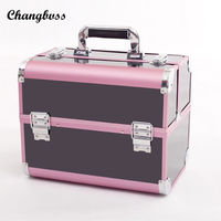 Korean Style Portable Cosmetic Box Large Capacity Women Makeup Bags Professional Cosmetics Travel Organizer Vanity Case