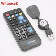WILTEEXS Kablosuz Fare Uzaktan Kumanda Denetleyici USB Alıcı IR Laptop için pc bilgisayar Merkezi Windows 7 8 10 Xp Vista SIYAH