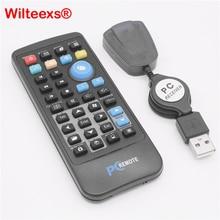 WILTEEXS Không Dây Chuột Điều Khiển Từ Xa Điều Khiển USB Receiver IR cho Loptop PC Máy Tính Trung Tâm Windows 7 8 10 Xp Vista ĐEN