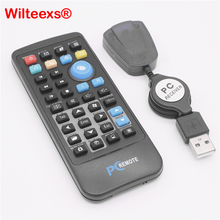 WILTEEXS עכבר אלחוטי מקלט USB בקר שליטה מרחוק IR עבור Loptop מחשב מרכז מחשב Windows 7 8 10 Xp Vista שחור