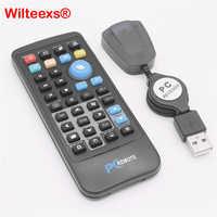 WILTEEXS souris sans fil télécommande contrôleur USB récepteur IR pour Loptop PC ordinateur Center Windows 7 8 10 Xp Vista noir