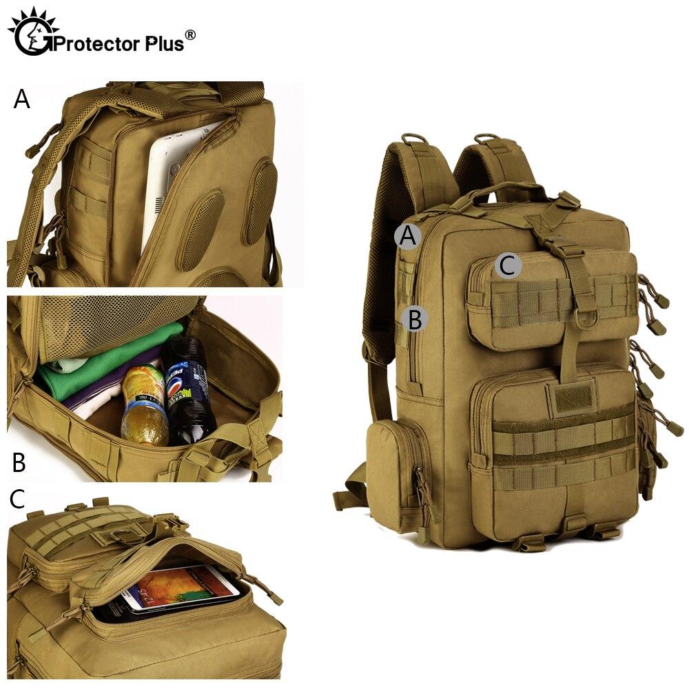 Protecteur PLUS militaire MOLLE sac à dos tactique pistolet sac désert patrouille sac à dos Camo chasse de haute qualité en plein air voyage armée - 4